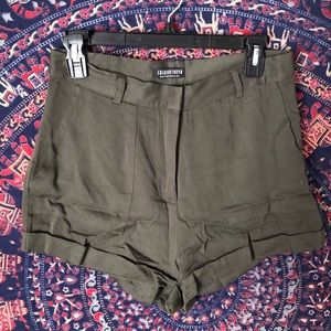 Fashion Nova Green Shorts Size Medium